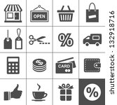 shopping icon set. simplus...