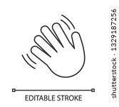 waving hand gesture emoji... | Shutterstock .eps vector #1329187256