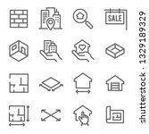 Real Estate Line Icon Set....