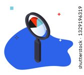 magnifying glass and graph... | Shutterstock .eps vector #1329196319