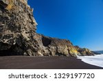 black sand reynisfjara beach in ... | Shutterstock . vector #1329197720