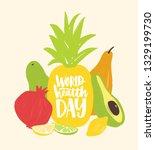 world health day festive... | Shutterstock .eps vector #1329199730