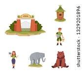 vector design of zoo  and park... | Shutterstock .eps vector #1329201896