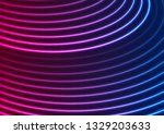 bright blue purple neon wavy... | Shutterstock .eps vector #1329203633