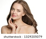 beautiful skin and healthy hair ... | Shutterstock . vector #1329205079