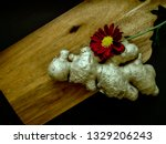 ginger root with a red... | Shutterstock . vector #1329206243