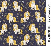 seamless pattern from cute... | Shutterstock .eps vector #1329211979
