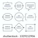 quote box  speech bubble  text...   Shutterstock .eps vector #1329212906
