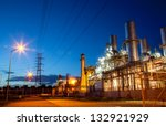 twilight photo of power plant | Shutterstock . vector #132921929