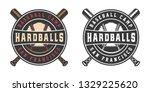vintage baseball sport logo ...   Shutterstock .eps vector #1329225620