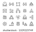 set of business people icons ... | Shutterstock .eps vector #1329225749