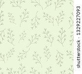 seamless botanical vector... | Shutterstock .eps vector #1329227093