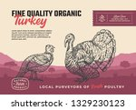 fine quality organic poultry....   Shutterstock .eps vector #1329230123