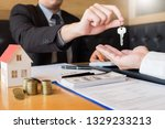 real estate developer agent and ... | Shutterstock . vector #1329233213
