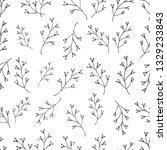 seamless botanical vector... | Shutterstock .eps vector #1329233843