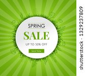spring sale card with gradient... | Shutterstock .eps vector #1329237809
