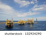 an offshore production platform ... | Shutterstock . vector #132924290