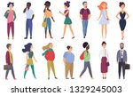 stylized characters adult... | Shutterstock . vector #1329245003
