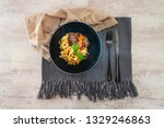 home made beef bourguignon with ... | Shutterstock . vector #1329246863