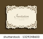 vintage gold rectangle frame... | Shutterstock .eps vector #1329248603