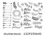 set of hand drawing page... | Shutterstock . vector #1329250640