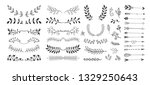 set of hand drawing page... | Shutterstock . vector #1329250643