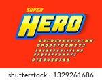 comics style font design ... | Shutterstock .eps vector #1329261686