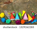 holiday hats  whistles ... | Shutterstock . vector #1329262283