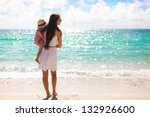 back view of mother and her... | Shutterstock . vector #132926600