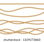 realistic 3d detailed rope line ... | Shutterstock .eps vector #1329273860