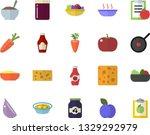 color flat icon set teflon flat ... | Shutterstock .eps vector #1329292979