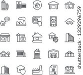 thin line icon set   shop... | Shutterstock .eps vector #1329296759