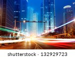 light trails on the street in... | Shutterstock . vector #132929723