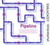 pipeline design background...   Shutterstock .eps vector #1329297893