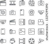 thin line icon set   camera... | Shutterstock .eps vector #1329299390