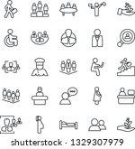 thin line icon set   dispatcher ... | Shutterstock .eps vector #1329307979