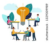 illustration  online assistant ... | Shutterstock . vector #1329309989