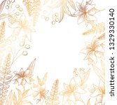 pattern flowers and leafs... | Shutterstock .eps vector #1329330140