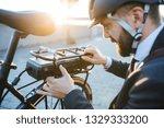 Hipster Businessman Commuter...