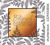 botanical illustration label... | Shutterstock .eps vector #1329333836