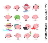 vector illustration set of... | Shutterstock .eps vector #1329334799