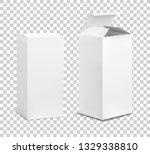empty tall box. cardboard... | Shutterstock .eps vector #1329338810
