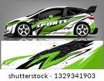 sport car racing wrap design....   Shutterstock .eps vector #1329341903