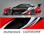 sport car racing wrap design.... | Shutterstock .eps vector #1329341909