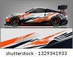 sport car racing wrap design.... | Shutterstock .eps vector #1329341933