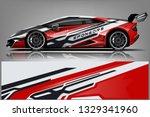 sport car racing wrap design.... | Shutterstock .eps vector #1329341960