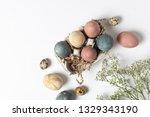 easter celebration minimal... | Shutterstock . vector #1329343190