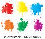 vector collection of artistic... | Shutterstock .eps vector #1329350099