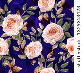 Seamless Pattern With Peachy...