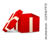 open red gift box icon.... | Shutterstock . vector #1329367973